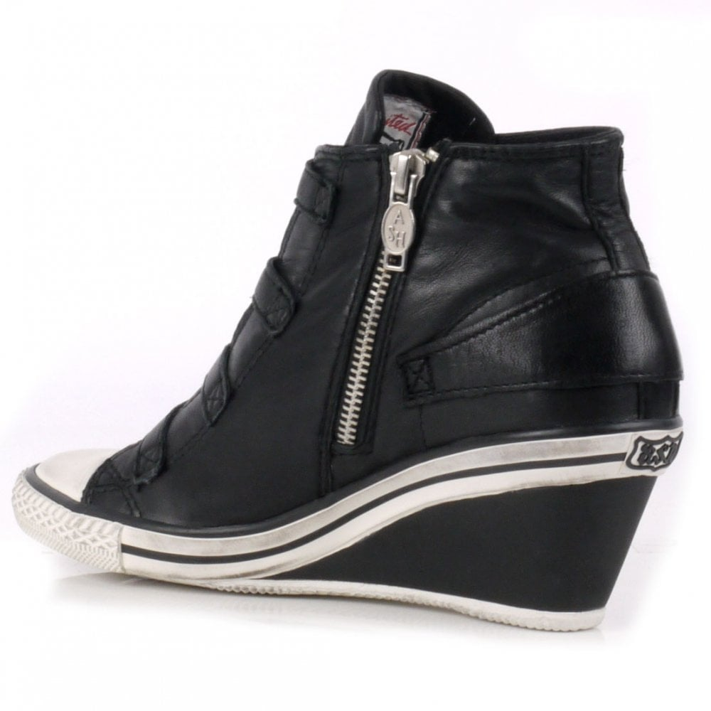 0684ceb2795 Buy the Ash Footwear Genial Trainers in Black Leather Online Today