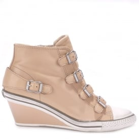 GENIAL Mid-Wedge Trainers Clay Leather