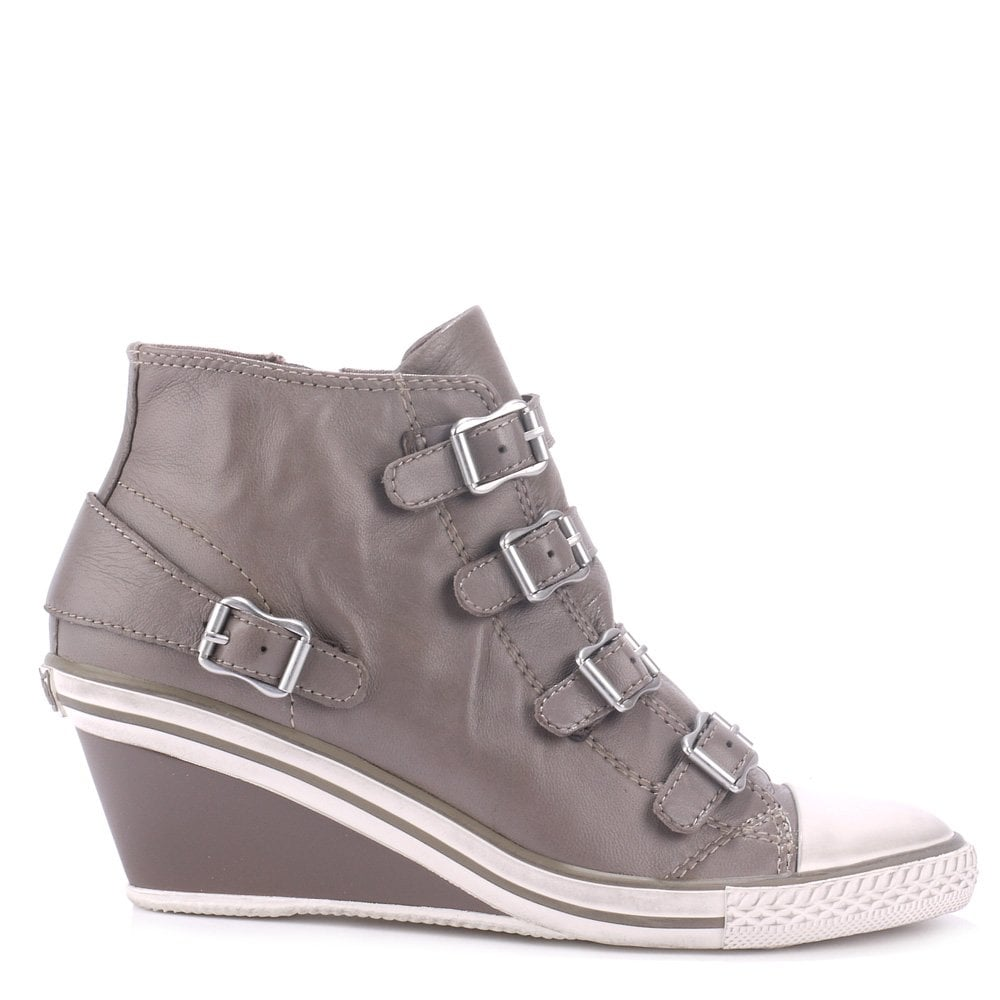 feb1b6fa146 Buy the Ash Footwear Genial Trainers in Grey Leather Online Today