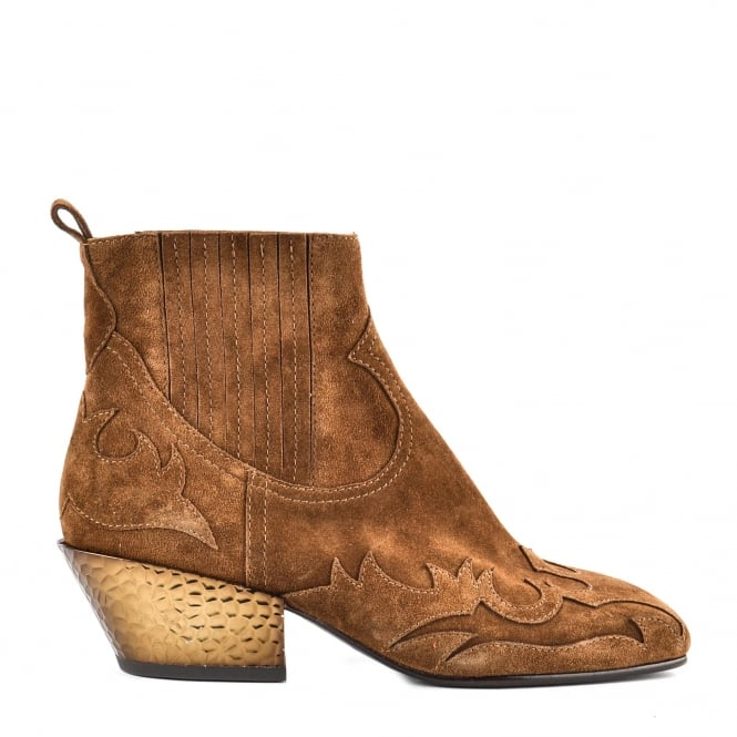 Ash GINGER BIS Boots Russet Suede & Bronze