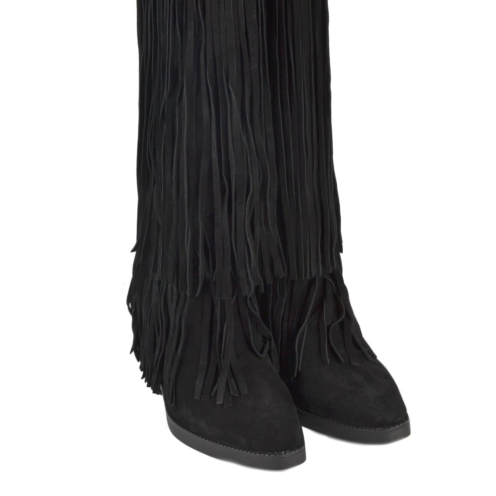 d4137e1656a Buy Ash Gipsy Ter Thigh High Black Suede Boots Online