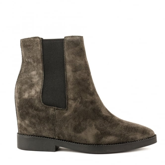 Ash GONG Low-Wedge Boots Bistro Suede