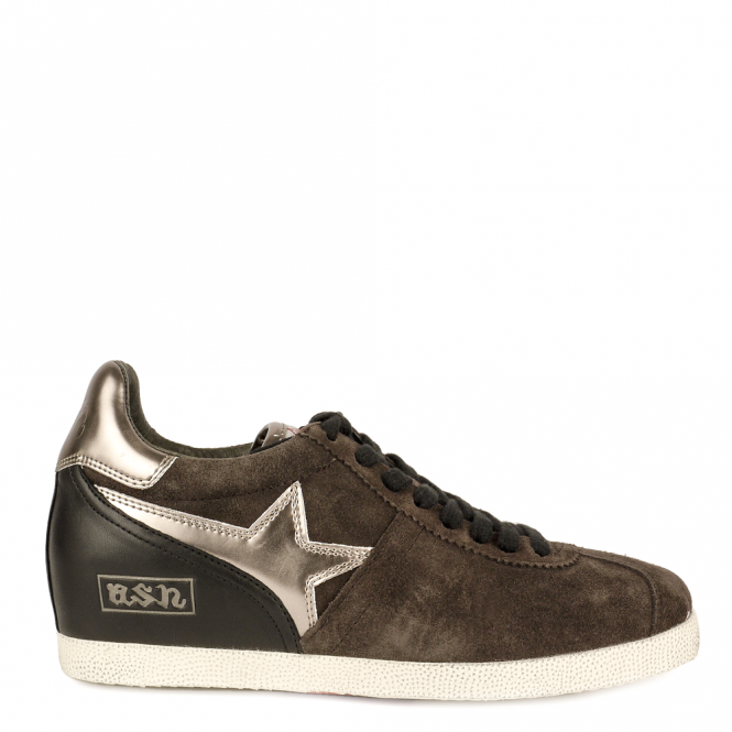 Ash GUEPARD BIS Low-Wedge Trainers Bistro Suede