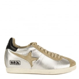 GUEPARD TER Low-Wedge Trainers Silver Leather