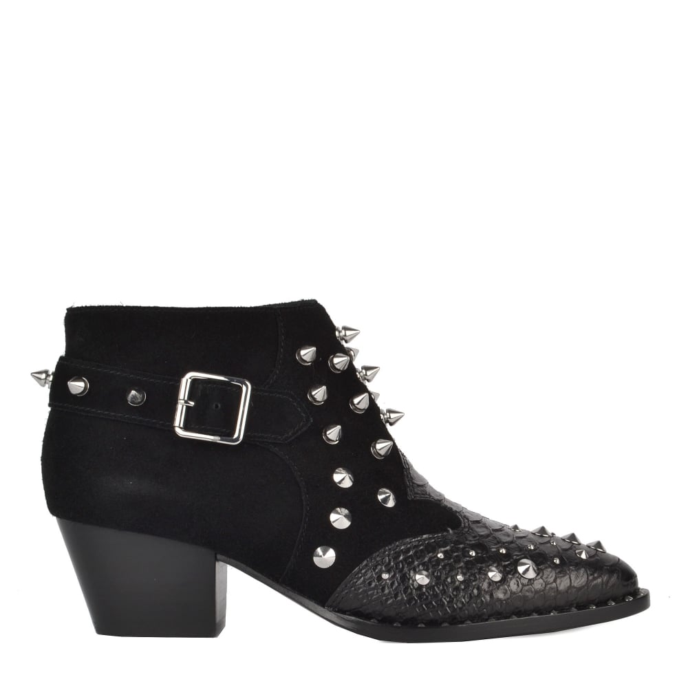 Shop Studded Suede Boots - The Harper