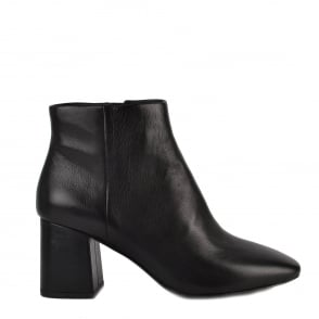 Ash HEROIN Flared Heel Boots Black Leather