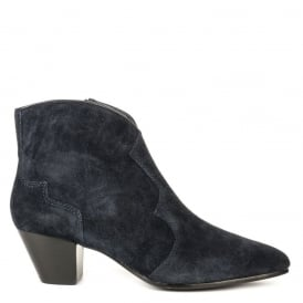 HURRICAN Boots Midnight Blue Suede