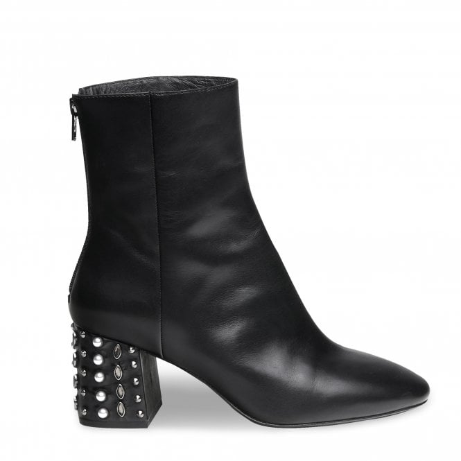HYDE Boots Black Leather & Studs