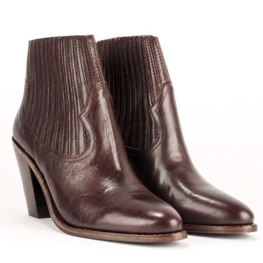 e9d60c4acb110 ILONA Ankle Boots Bordeaux Leather