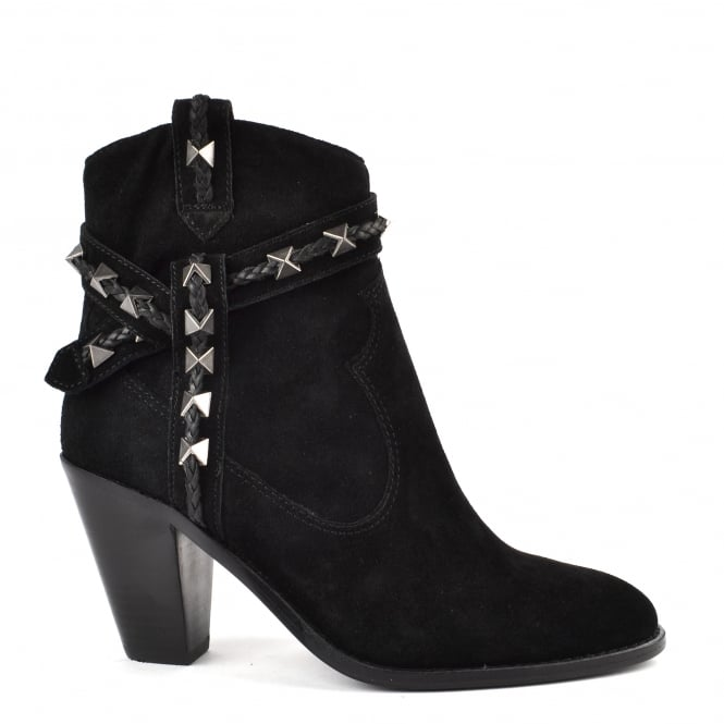 Ash ILONA Boots Black Suede & Leather