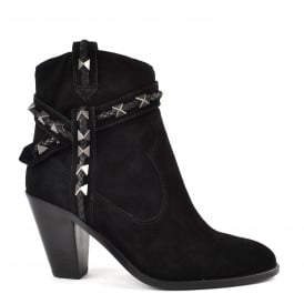 ILONA Boots Black Suede & Leather