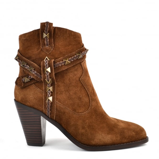 Ash ILONA Boots Russet Suede & Leather