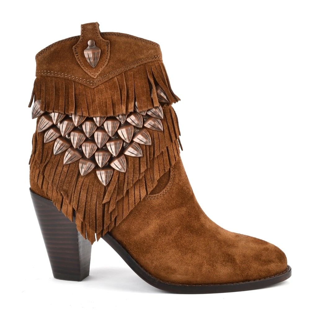 Quite Nice Womens Ash Fringed Boots Best
