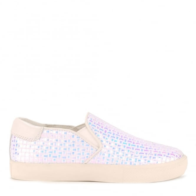 Ash IMPULS BIS Trainers Pearlescent Woven & White Leather