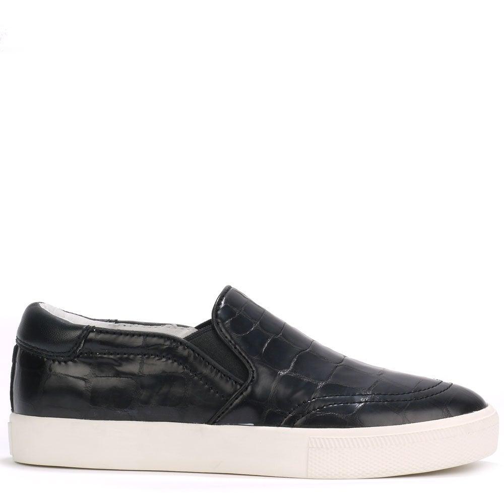black croc trainers