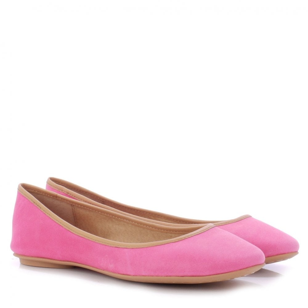 INSTINCT pink and nude leather ballet flats