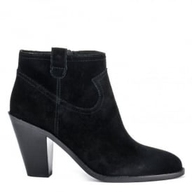 IVANA Ankle Boots Black Suede