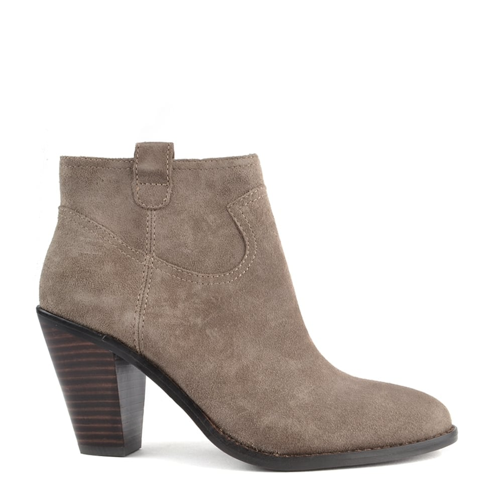 5ba813882ef IVANA Ankle Boots Stone Suede