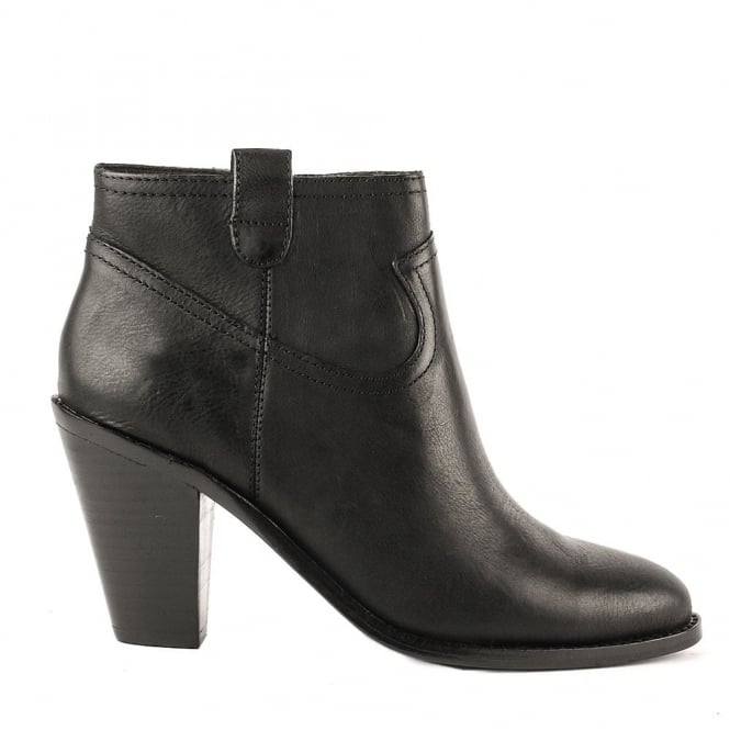 Ash IVANA Heeled Boots Black Leather