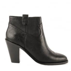 IVANA Heeled Boots Black Leather