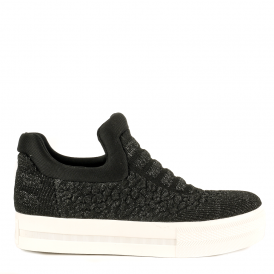 JAGUAR Slip On Trainers Black & Piombo Knit