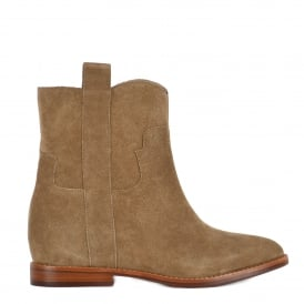 JANE Low Wedge Boots Wilde Suede