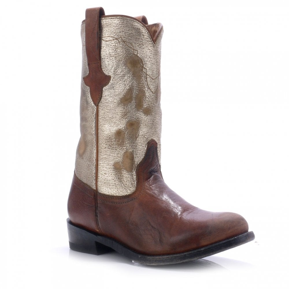 696a0f7d45a JEFF camel and platine cowboy boots