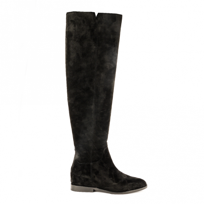 Ash JESS Knee High Boots Black Suede