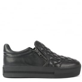 JODIE BIS Trainers Black Quilted Leather