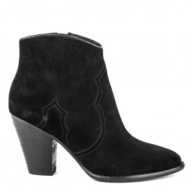 JOE Heeled Boots Black Suede