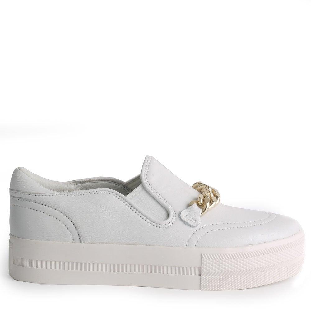 Ash Ash JOE white leather slip-on