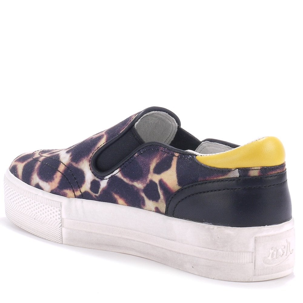 db2a81cc91f1 Ash JUNGLE BIS cheetah-print canvas trainers