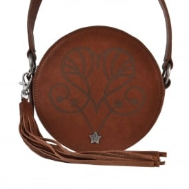KARINA Round Box Bag Bruciato Leather