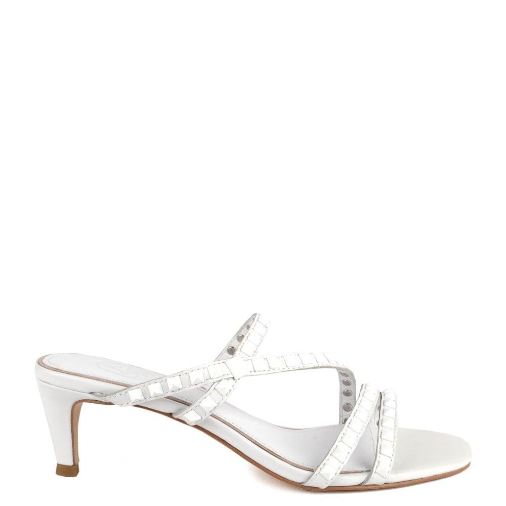 8040d991a4 Kate Studs | Shop Women's White Leather Sandals | ASH UK Official Site