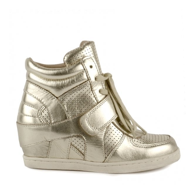 Ash Kid's BABE BIS Wedge Trainers Platine Leather