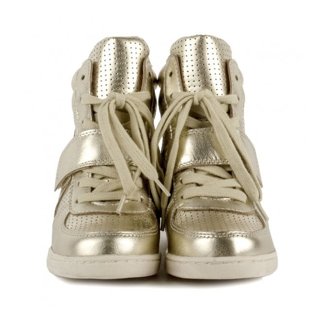 122be5eb455 Shop Ash Kids Babe Trainers In Gold Leather - Available Online Today