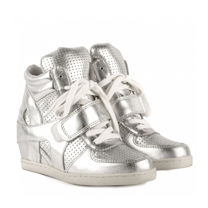 4e29394a92e Shop Ash Kids Babe Trainers In Silver Leather - Available Online Today