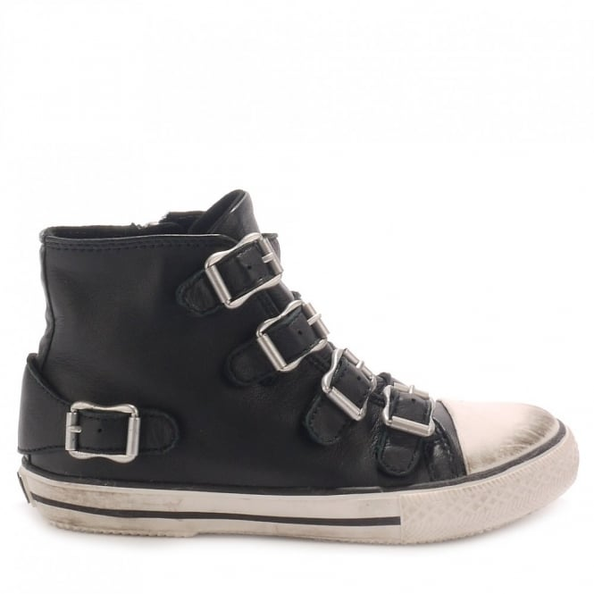 Ash Kid's FANTA Black Leather Trainers
