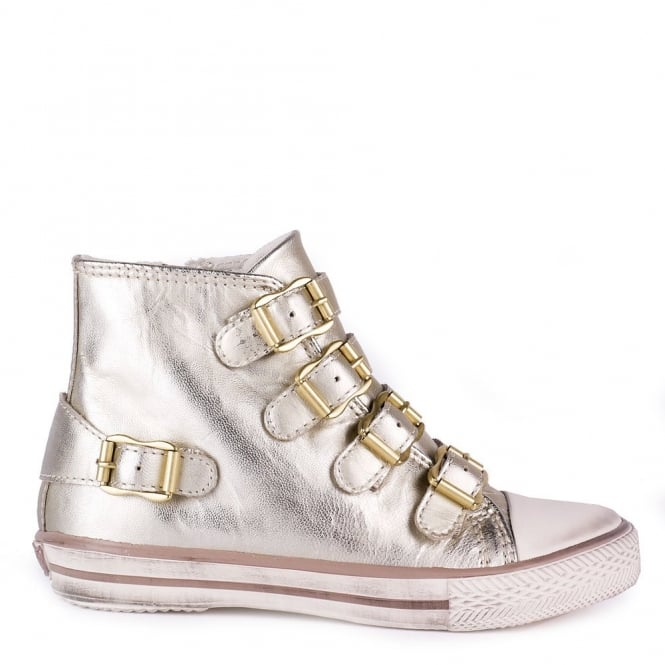 Ash Kid's FANTA Gold Leather Trainers