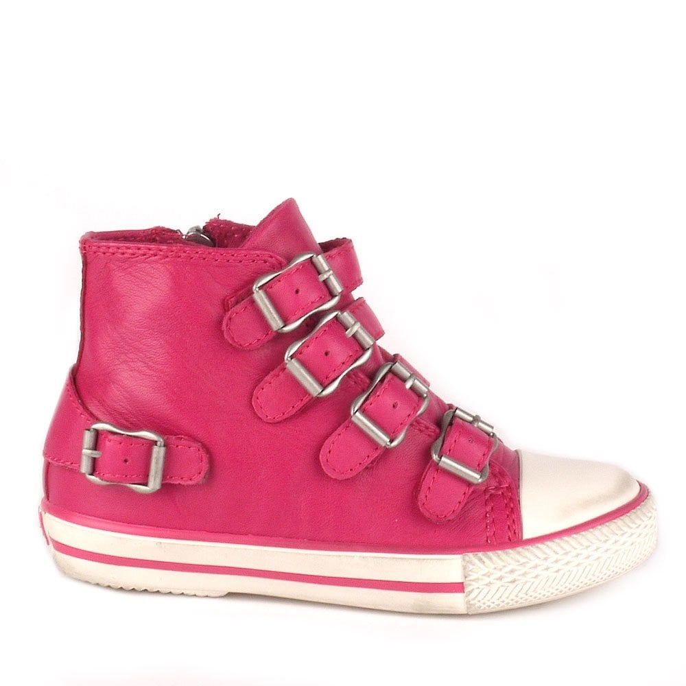 Ash Kids Fanta Trainers In Pink Leather