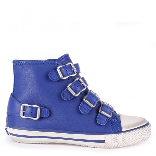 Ash Kid's FANTA Trainers Cobalt Blue Leather