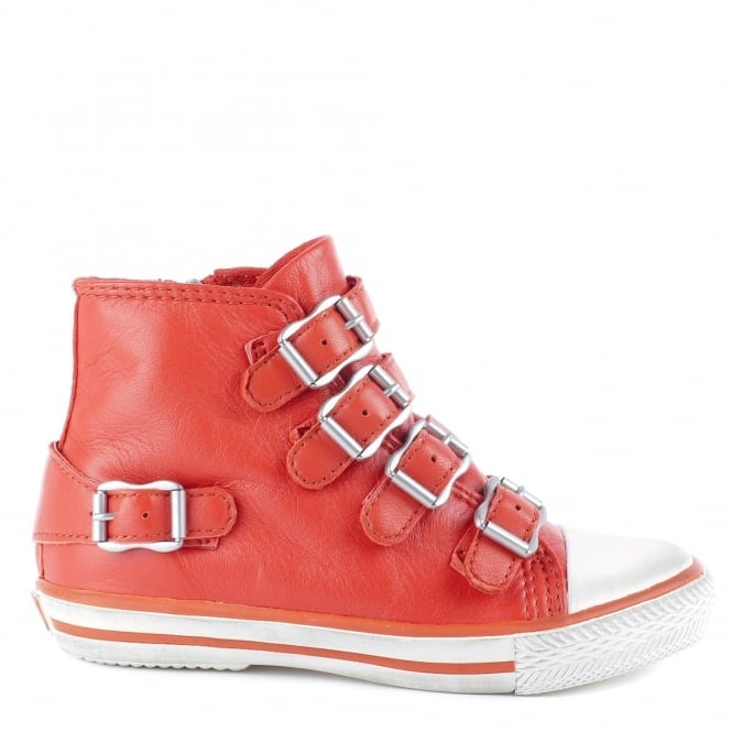 Ash Kid's FANTA Trainers Coral Leather