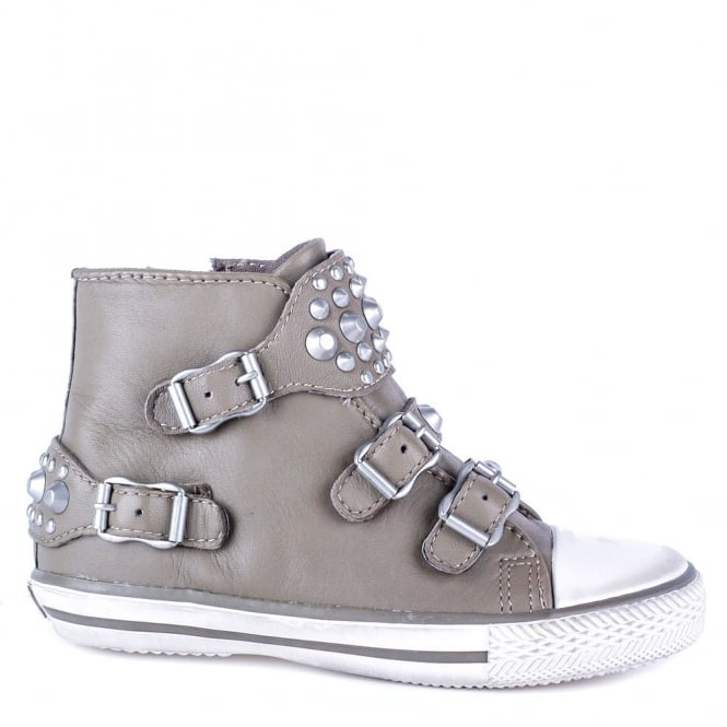 Ash Kid's FROG Trainers Perkish Leather & Silver Studs