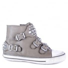 Kid's FROG Trainers Perkish Leather & Silver Studs