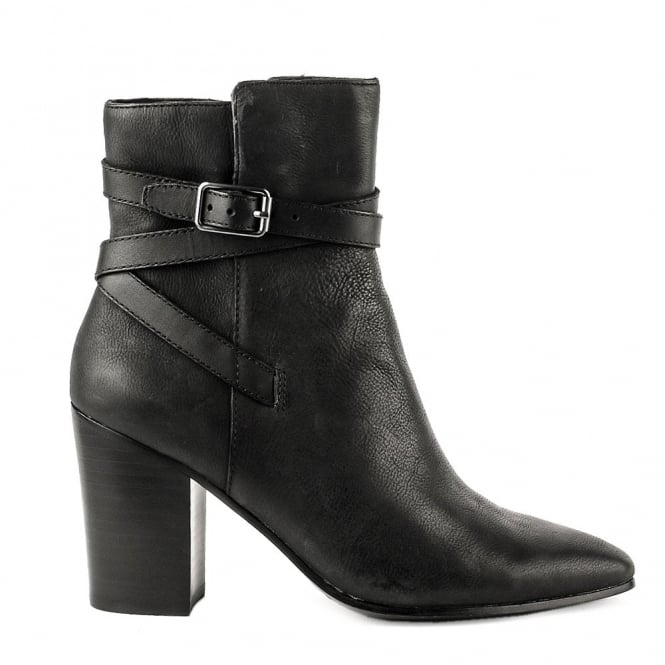 Ash KIM Heeled Boots Black Leather