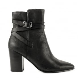 KIM Heeled Boots Black Leather