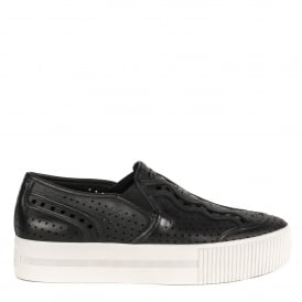 KINGSTON Trainers Black Leather