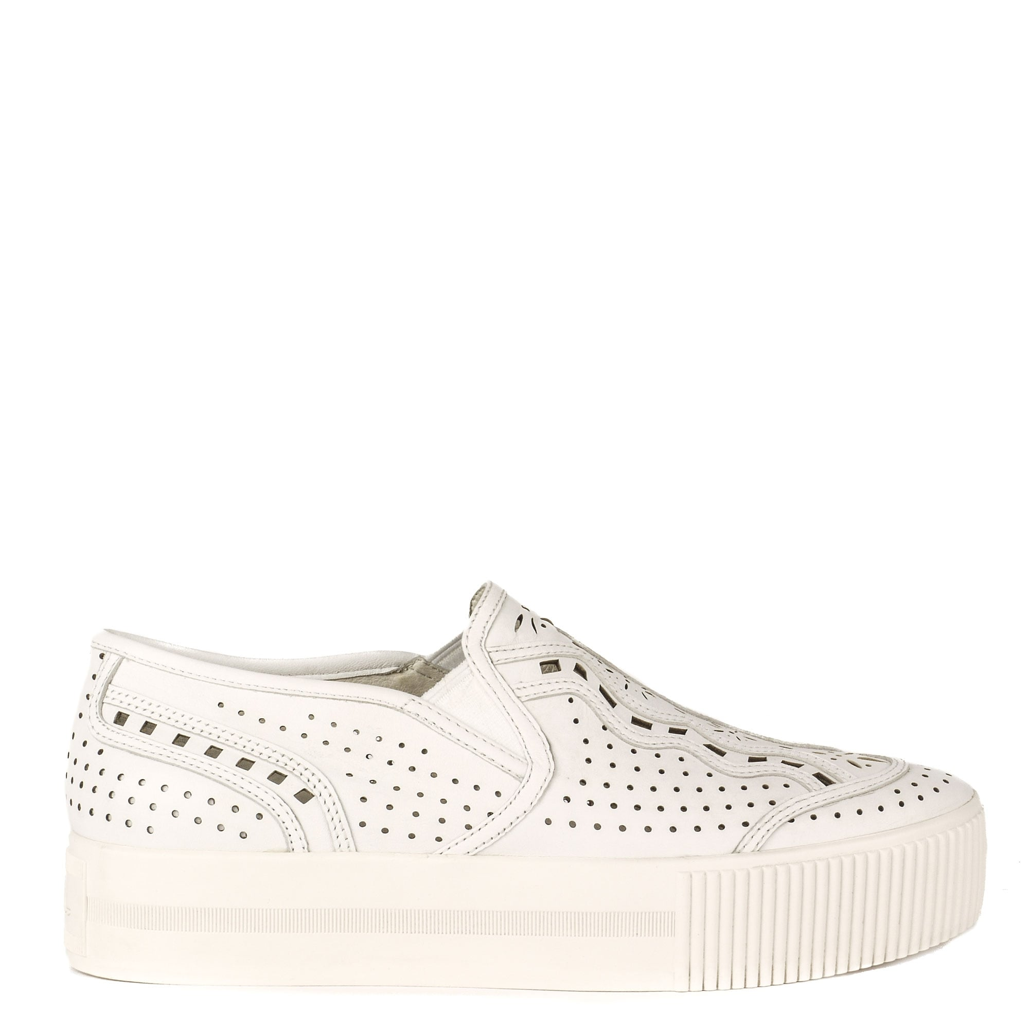 Ash Kingston Trainers in White Leather