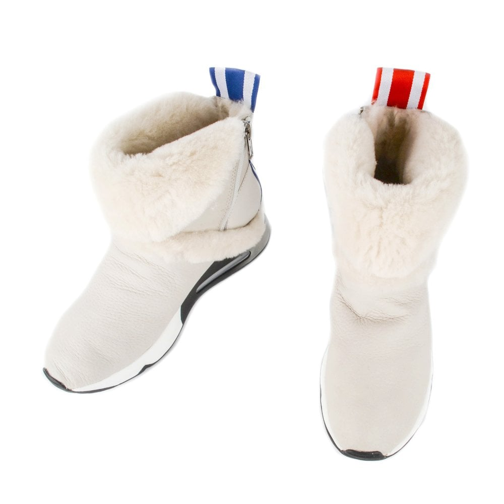 Ash Laika White Leather Trainer Boots