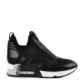 LAIKA Trainers Black Leather & Neoprene